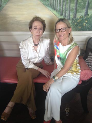 Fernanda Montenegro e Lelli de Orleans e Bragança em almoço na casa de Francesca Romana Diana no Rio || Créditos: Glamurama