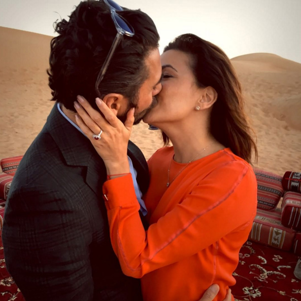 Eva Longoria foi pedida em casamento nesse domingo por Juan Antonio Boston || Créditos: Reprodução / Instagram