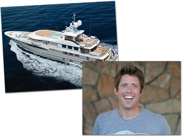 Nick Woodman terá um barco do mesmo estaleiro do bilionário brasileiro Alexandre Grendene  ||  Créditos: Divulgação