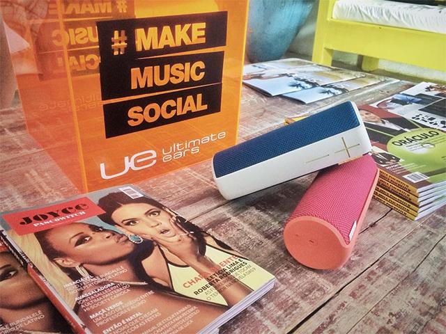 O som da Casa Glamurama Trancoso: playlists incríveis tocando nas caixinhas Ultimate Ears. || Créditos: Glamurama