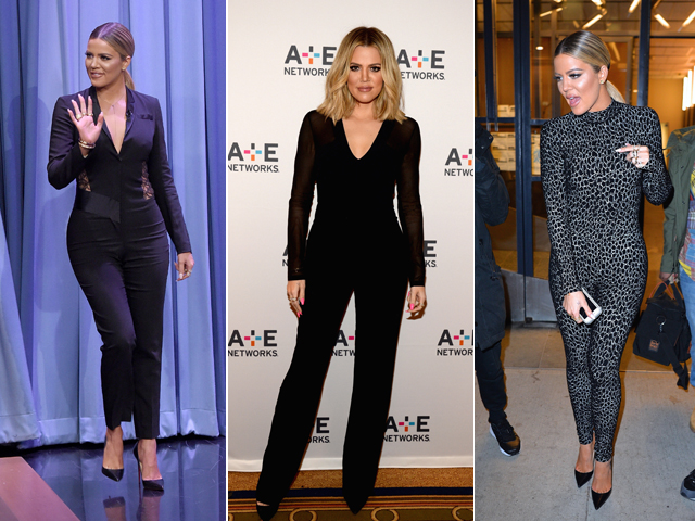 Os macacões de Khloe Kardashian: hot or not? || Créditos: Getty Images