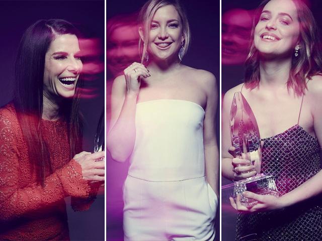 Sandra Bullock, Kate Hudson e Dakota Johnson foram uma das atrizes que deram pivô no PCAs    Crédito: Reprodução Instagram