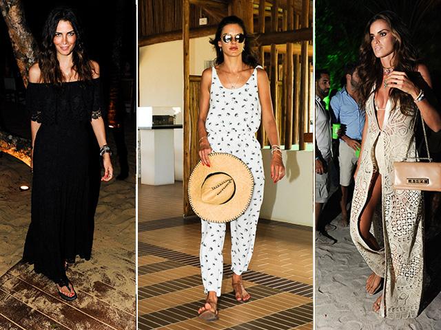 Da esquerda para a direita: Fernanda Motta, Alessandra Ambrosio e Izabel Goulart Créditos: André Ligeiro/Paulo Freitas