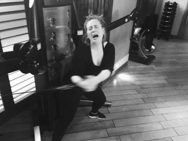 Adele: não é fácil manter a boa forma  ||  Créditos: Reprodução Instagram