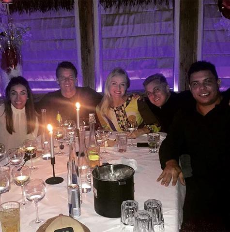 Duda e Lica Melzer, Angélica e Huck e Ronaldo  ||  Créditos: Reprodução Instagram