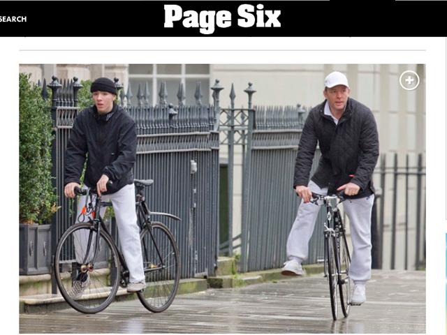 Rocco e Guy, em Londres  ||  Créditos: Reprodução Page Six