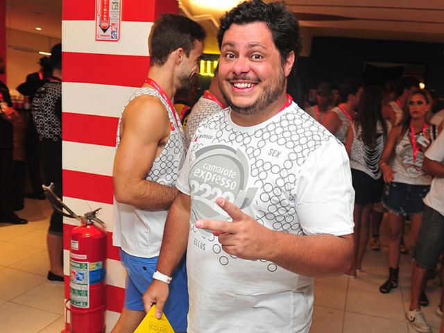 Marcus Majella no camarote Expresso 2222  ||  Créditos: Paulo Freitas