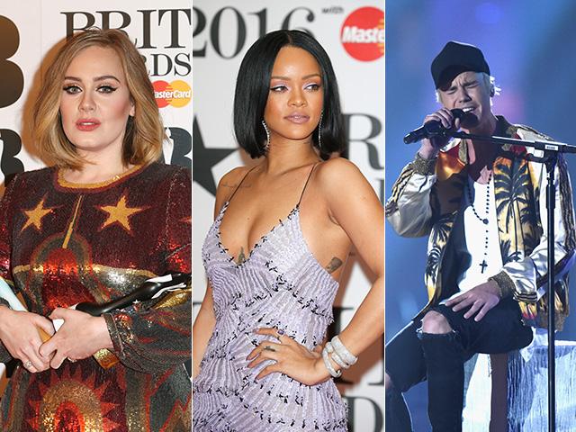 Adele, Rihanna e Justin Bieber: o melhor do Brit Awards 2016      Créditos: Getty Images
