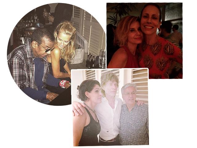 Paula Lavigne, Mick Jagger e Caetano Veloso em festa que ainda teve Carolina Dieckmann,  Jorge Ben Jor, Andrea Dellal, Paula Burlamaqui e mais  ||  Créditos: Reprodução Instagram