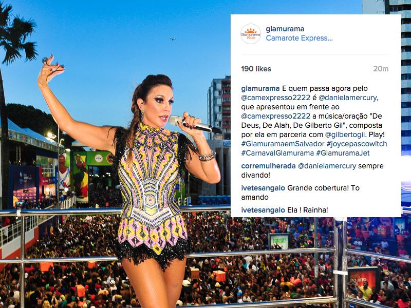 Ivete Sangalo: recompondo energias em casa para se jogar amanhã      Créditos: Paulo Freitas/Reprodução Instagram