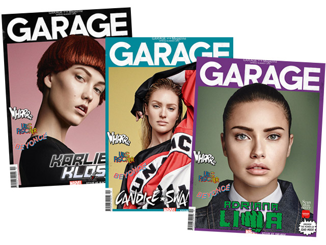 Supermodelos ganharam super-makeovers.  || Céditos: Garage Mag
