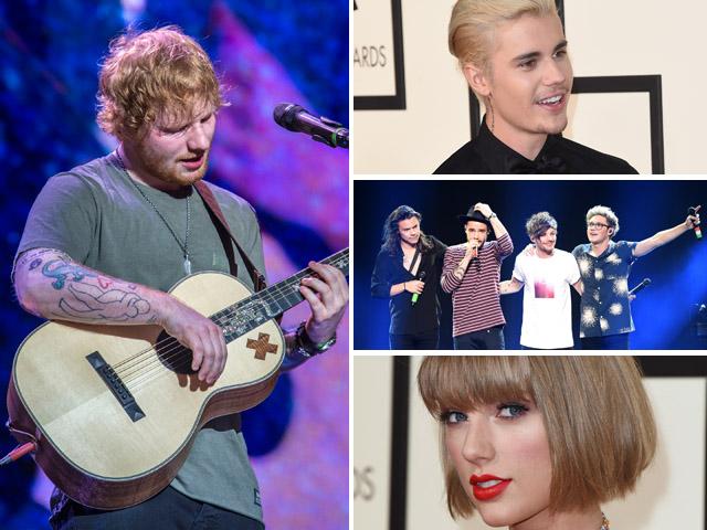 Ed Sheeren: o ruivinho já escreveu músicas para alguns dos artistas pop mais conhecidos da atualidade    Créditos: Getty Images