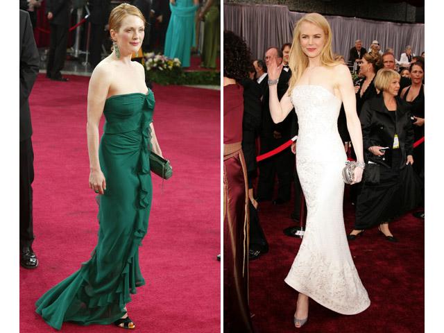 Nicole Kidman, em 2006 e Julianne Moore e 2003 || Créditos: Getty Images
