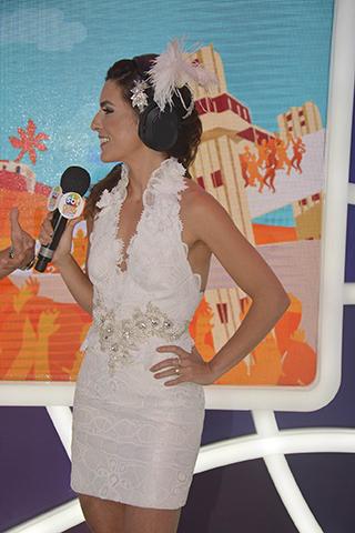Look de Ticiana Villas Boas usado durante sua estreia ao vivo como âncora do Carnaval de Salvador|| Créditos: Lucas Assis