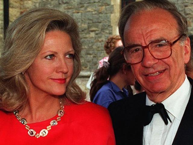 Anna Murdoch Mann e Rupert Murdoch    Créditos: Getty Images