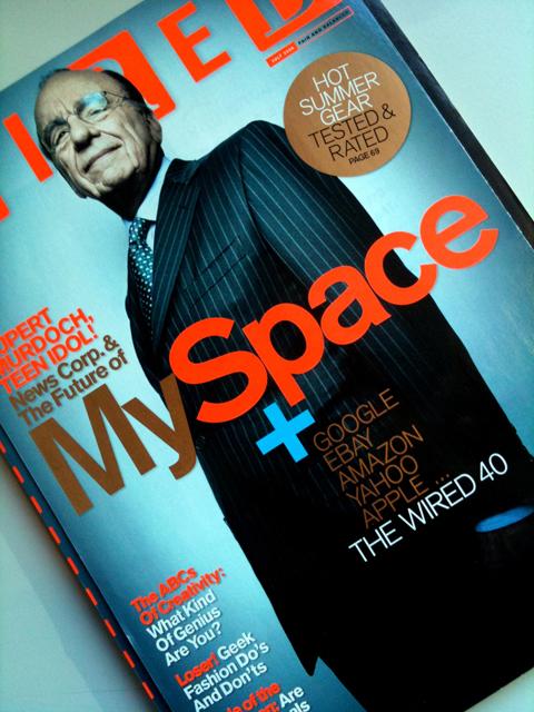 Rupert Murdoch compra o MySpace    Créditos: Reprodução