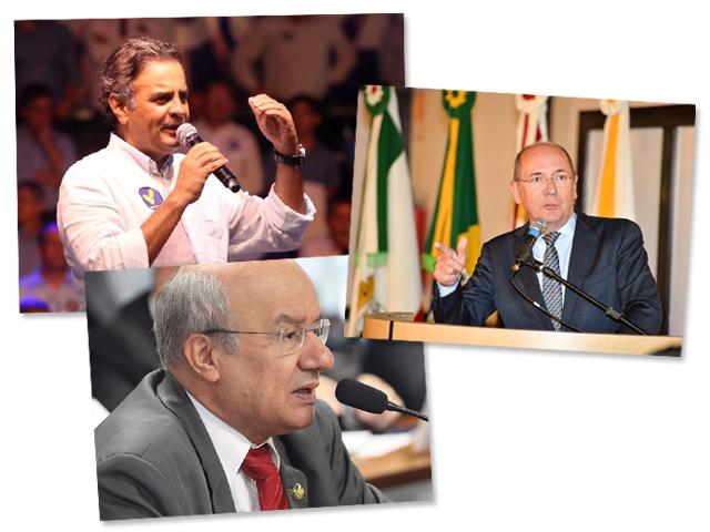 Aécio negociou com José Pimentel pontos do projeto do senador Paulo Bauer (centro) || Reprodução Facebook