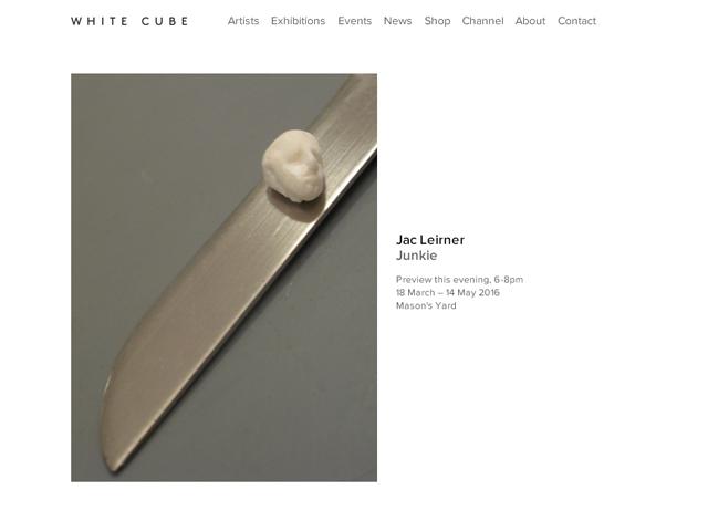 Junkie de Jac Leiner na White Cube      Créditos: Reprodução