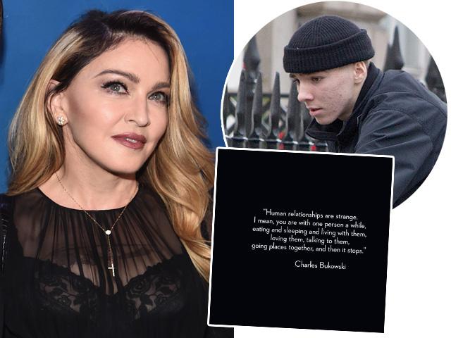 Madonna em mais um post dedicado ao filho Rocco  ||  Créditos: Getty Images / Reprodução Instagram