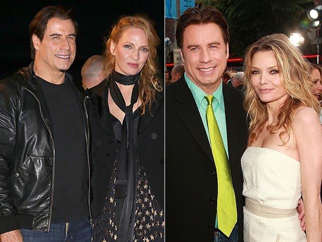 John Travolta com Uma Thurman e Michelle Pfeiffer || Créditos: Getty Images/Reprodução