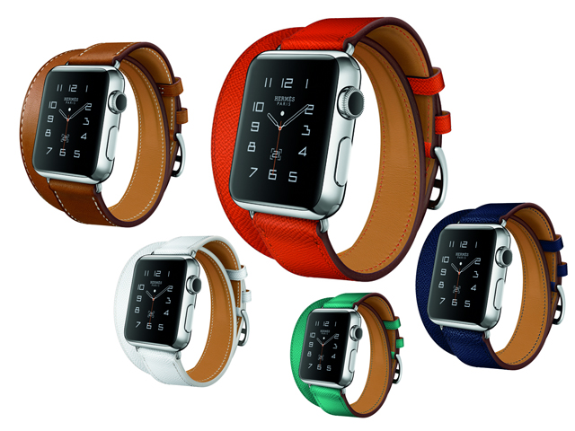 Agora vendidas separadamente, as pulseiras Hermès para o Apple Watch começam a ser vendidas a partir de US$ 340, aproximadamente R$ 1.360    Crédito: Divulgação