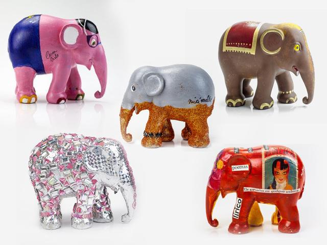 Elefantes de Felipe Titto, Mari Moon, Miá Mello, Cesar Cielo e Maria Casadevall || Créditos: Divulgação