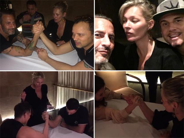 Kate Moss, Marc Jacobs, Riccardo Tisci e amigos: queda de braço  ||  Créditos: Reprodução Instagram
