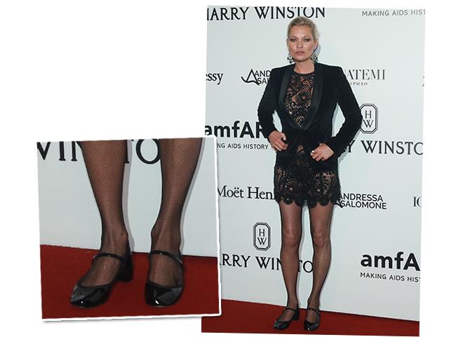 Kate Moss abriu mão do salto para cuidar da saúde  ||  Créditos: AgNews
