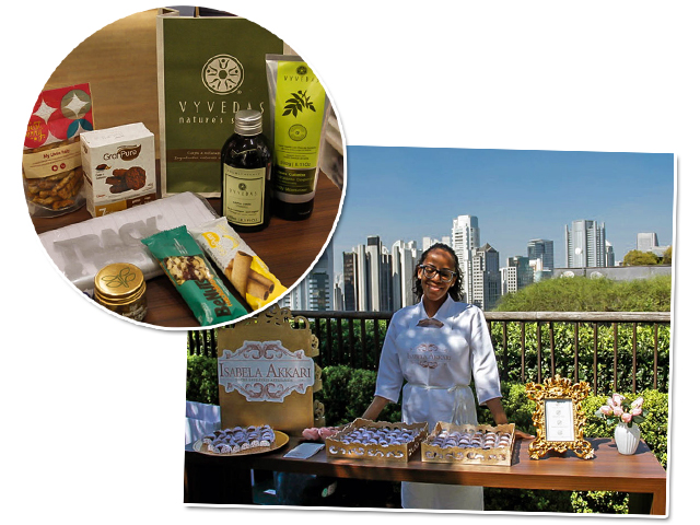 O kit recheado de gifts e os brownies da Isabella Akkari fizeram sucesso entre os convidados  || Créditos: Priscilla Brito