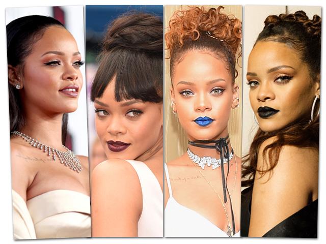 Rihanna é inspiração quando o assunto é maquiagem  ||  Créditos: Getty Images