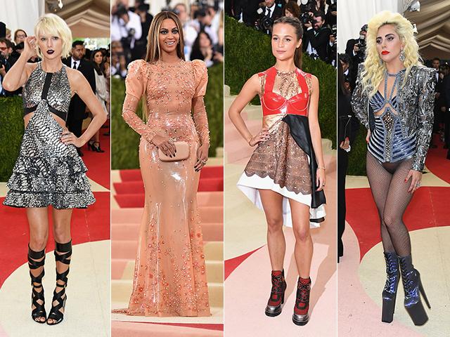 Os muitos estilos do Met Gala: Taylor Swift, Beyoncé, Alicia Vikander e Lady Gaga      Créditos: Getty Images