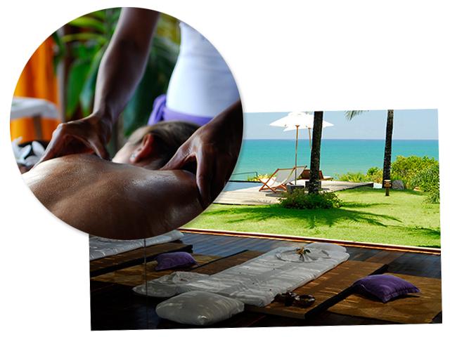 Sala de Massagem do Txai Resort Itacaré || Créditos: Divulgação
