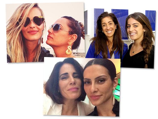 Yasmin e Luiza Brunet, Bia e Camila Yunes e Cléo e Glória Pires  || Créditos: Divulgação