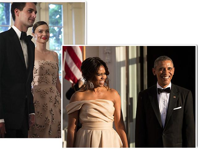 Miranda Kerr com em jantar de Michelle e Barack Obama  ||  Créditos: Getty Images