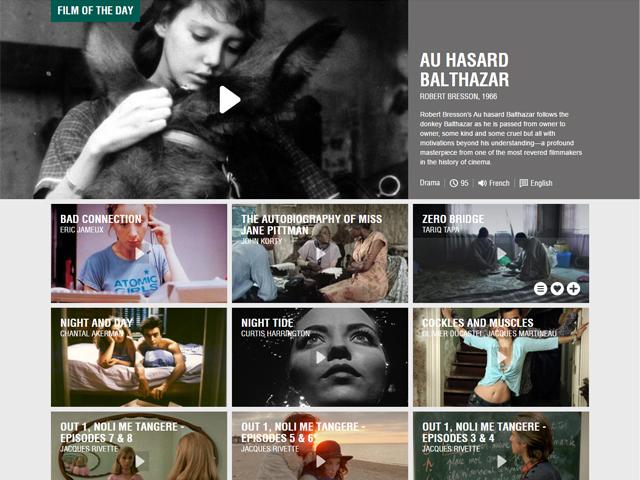 O MUBI apresenta vários títulos de filmes clássicos e independentes    Crédito: Reprodução