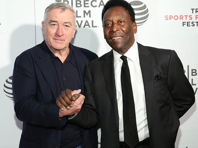 Robert DeNiro e Pelé      Créditos: Getty Images