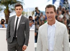 Zac Efron e Matthew McConaughey estão em campanhas brasileiras