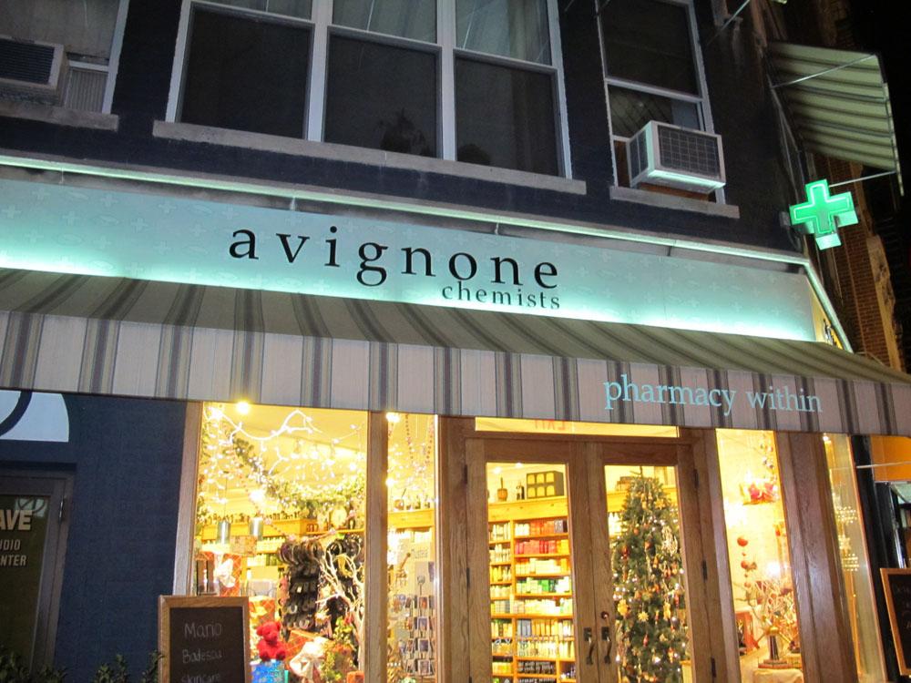 Avignone Chemists é loja de cosmético charmosa em Manhattan