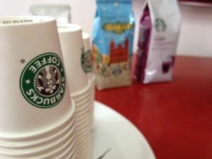 Rolou degustação do Starbucks aqui na Casa Glamurama