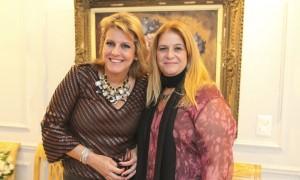 Riccy Souza Aranha pilotou cocktail em torno de Patrícia Riscala