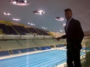 David Beckham visita o Parque Olímpico e posta foto no Facebook