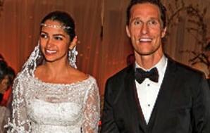 As primeiras imagens do casamento de Matthew McConaughey e Camila Alves