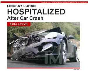 Lindsay Lohan sofre acidente e está hospitalizada