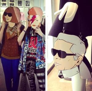 Lagerfeld, Anna Wintour e David Bowie estão à venda. Em forma de bolsa…