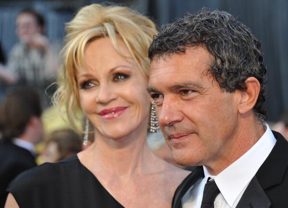 Melanie Grifitth e Antonio Banderas: Subiu no telhado