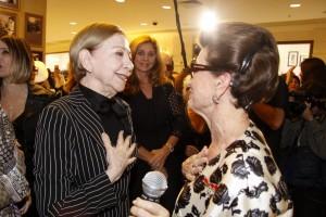 O encontro emocionante de Costanza Pascolato e Fernanda Montenegro