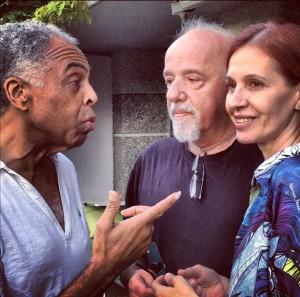 Paulo Coelho recebeu uma visita mais do que especial nesta semana