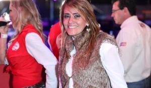 Denise Marconi é só sorrisos no Jaguariúna Brahma Country Festival