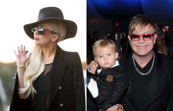 Lady Gaga, Zachary e Elton John: amizade de berço