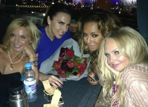Efeito Cinderela: Spice Girls esticam a noite após encerramento da Olimpíada